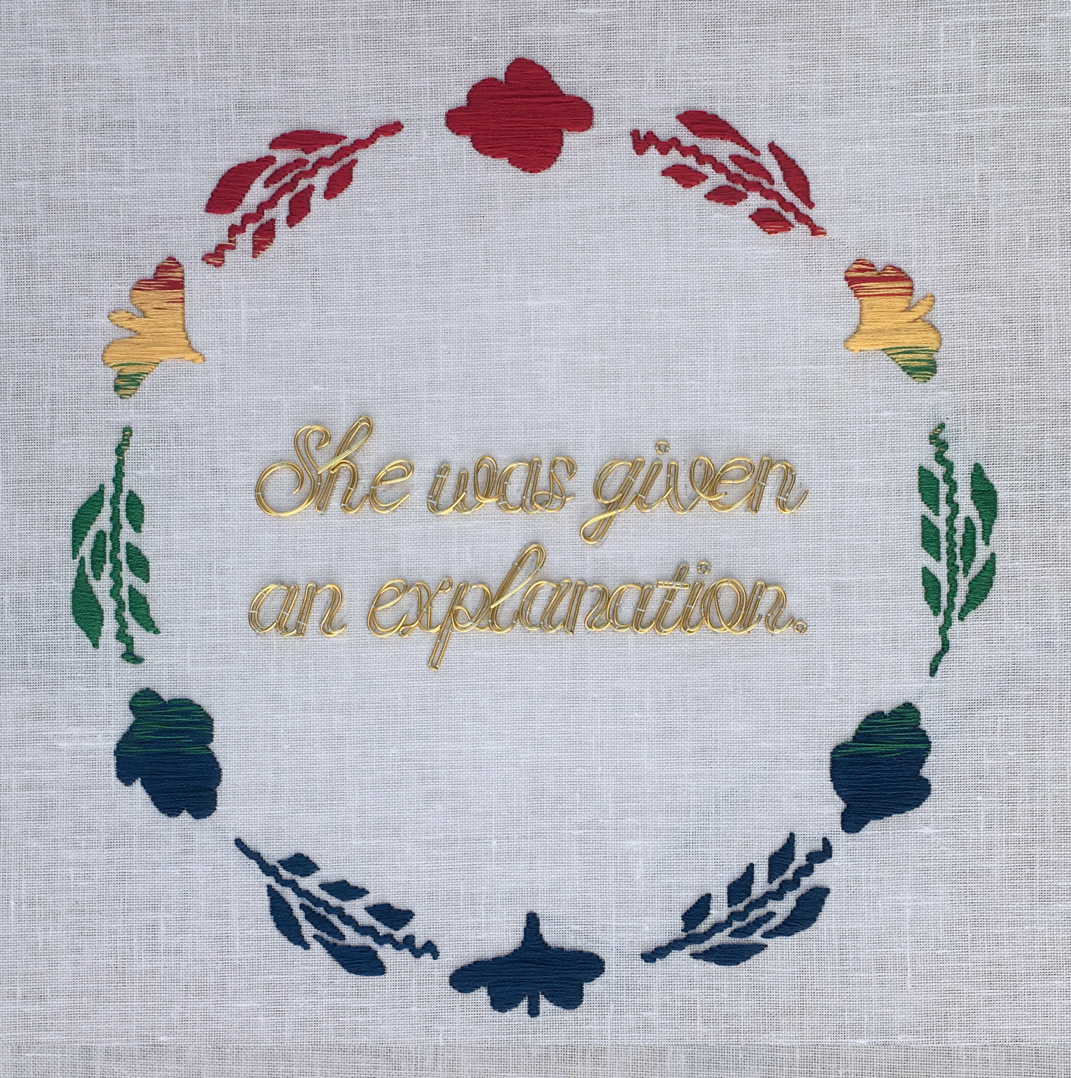 Joyce Overheul | She was given an explanation, Para ti, Maria Hernandez, 2018