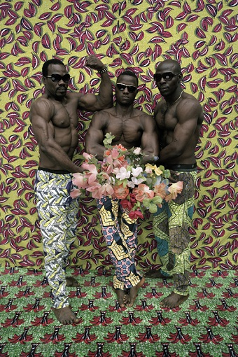 Leonce Raphael Agbodjelou | Untitled (Musclemen series), 2012
