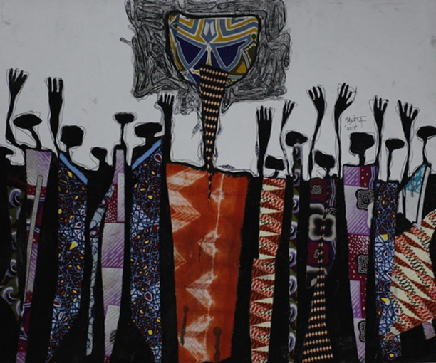 Obinna Makata | Oga at the Top (Adoration Crowd), 2013